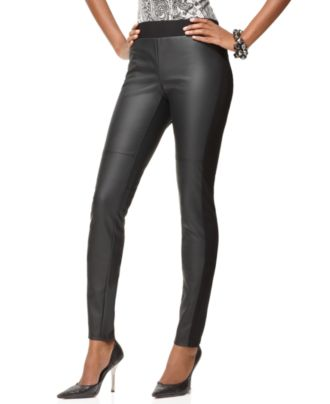 Inc international concepts pants, pull on faux leather skinny leg