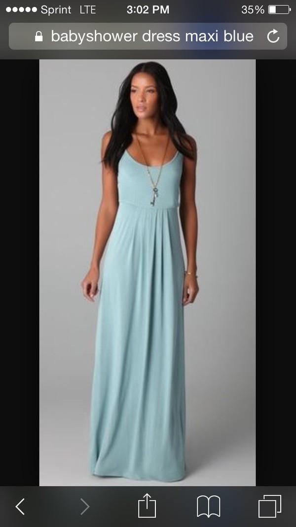 Dress: Blue, Blue Dress, Maxi, Maxi Dress, Babyshower, Sexy, Cute, Long,  Sleek, Simple Dress, Love, Long Dress   Wheretoget