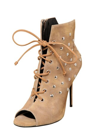 suede ankle boots studded boots ankle boots suede beige shoes