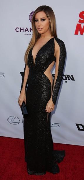 Ashley Tisdale Black Dress February 2017