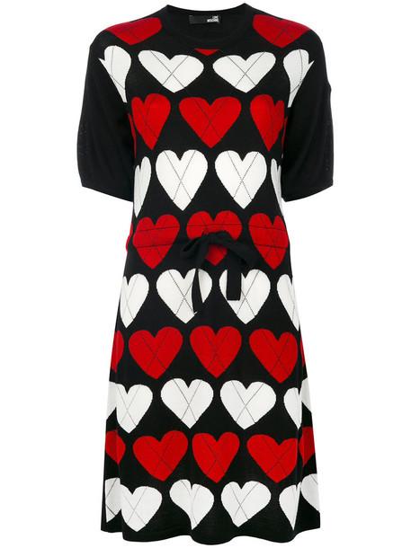 dress heart women black wool