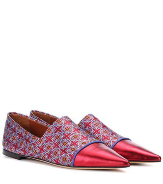 ETRO jacquard leather red shoes
