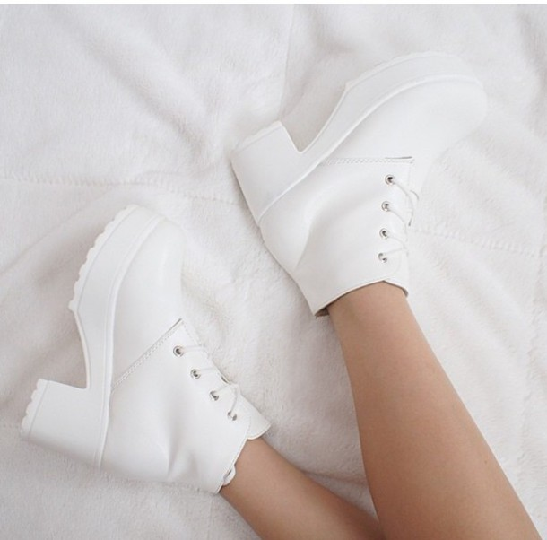 Shoes Heels Shoes White Aesthetic Instagram Cute