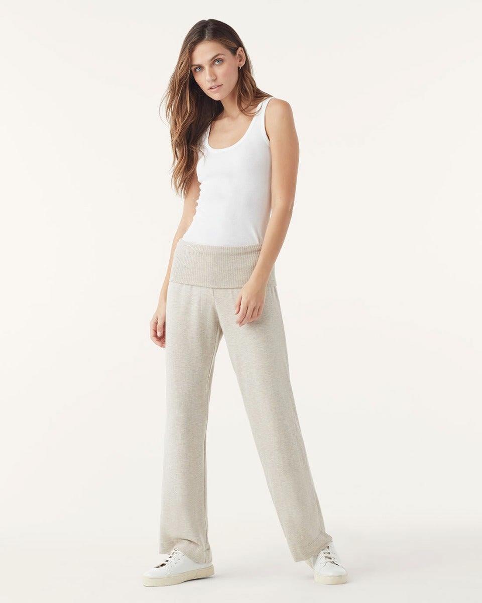 Super Soft With Rib Wide Leg Pants