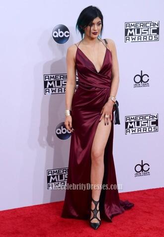 dress evening dress burgundy