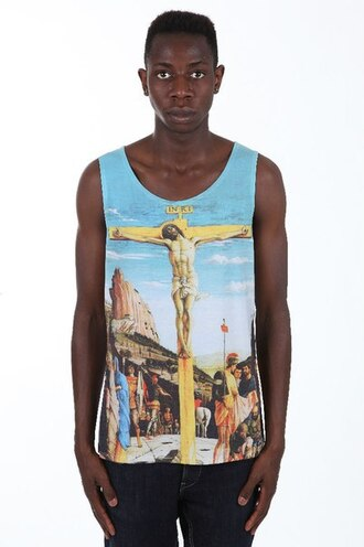 tank top printed tank top print all over print full print clothes fashion streetwear streetstyle