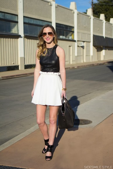 skirt jewels shoes bag side smile style dress shirt