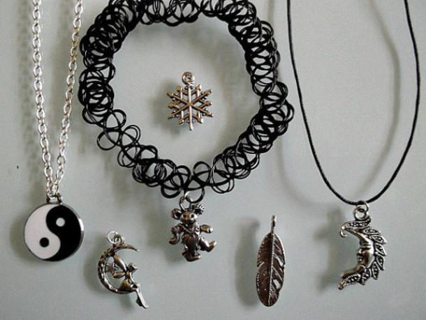 jewels jewelry style fashion grunge charms silver