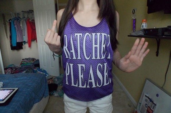 shirt top cute ratchet purple tank