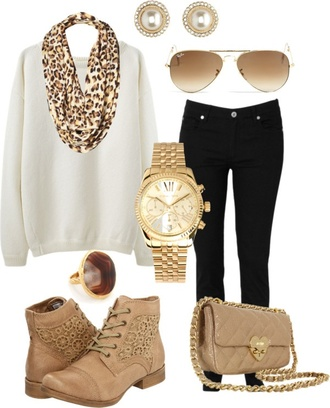 shoes clothes earrings sweater leopard print pearl white black watch bag jewels scarf swimwear blouse boots