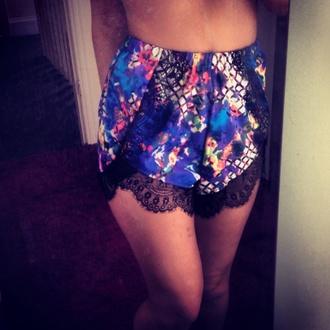 shorts ebonylace-streetfashion ebony lace high waisted shorts lace shorts