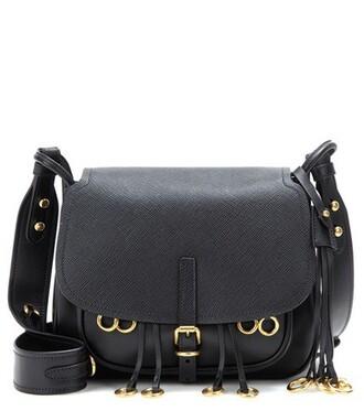 bag crossbody bag leather black