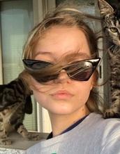 sunglasses,black,cat eye