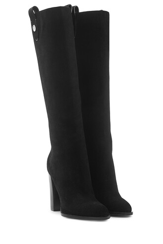 boots suede black shoes