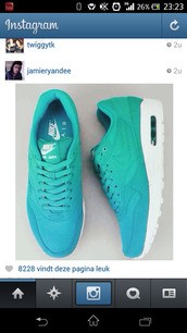 shoes,nike,blue,green,cool,white,swag,air max,nike air,nice