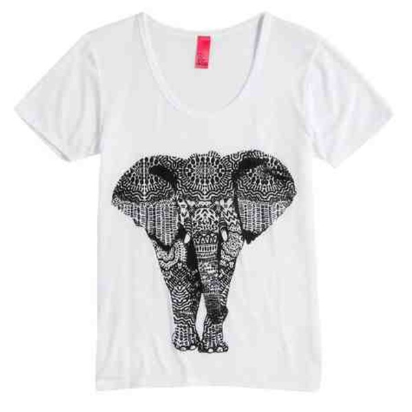 shirt elephant tribal pattern aztec cute t-shirt tumblr lovely hipster
