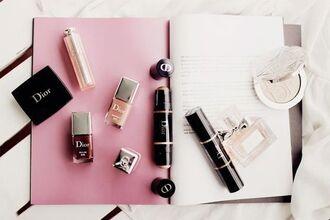 make-up tumblr dior nail polish gold highlight perfume