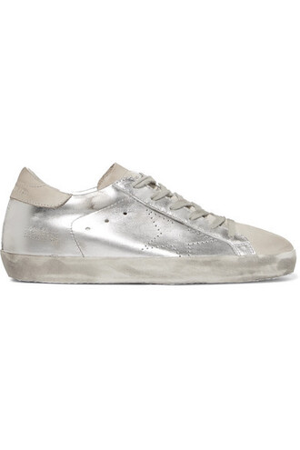 suede sneakers metallic sneakers silver leather suede shoes
