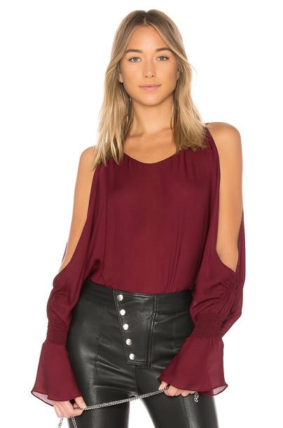 Nili Lotan blouse burgundy top