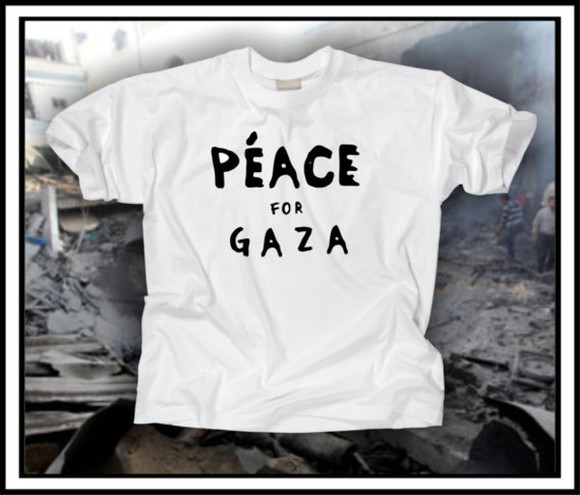 t-shirt white tshirt peace for gaza