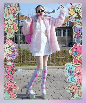 coat fur stylish 90's style fashionista trendy coat fluffy