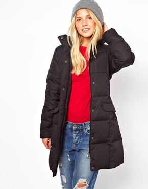 Puffa | Puffa Long Belted Padded Coat at ASOS