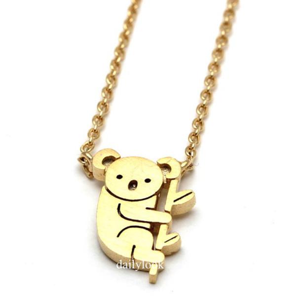 jewels koala necklace koala necklace teengirls animal jewelry animal necklace cute necklace girls necklace