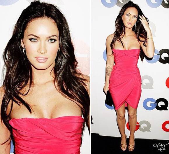 dress megan fox pink bodycon dress