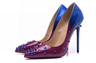 shoes christian louboutin spikes christian louboutin spiked heels high heel pumps louboutin