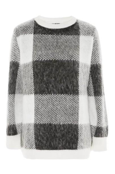 Topshop jumper oversized monochrome sweater