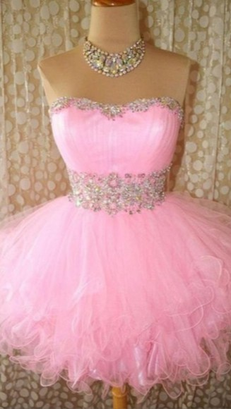 tulle prom dress pink dress