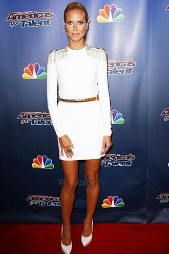 shoes dress high heels white dress heidi klum