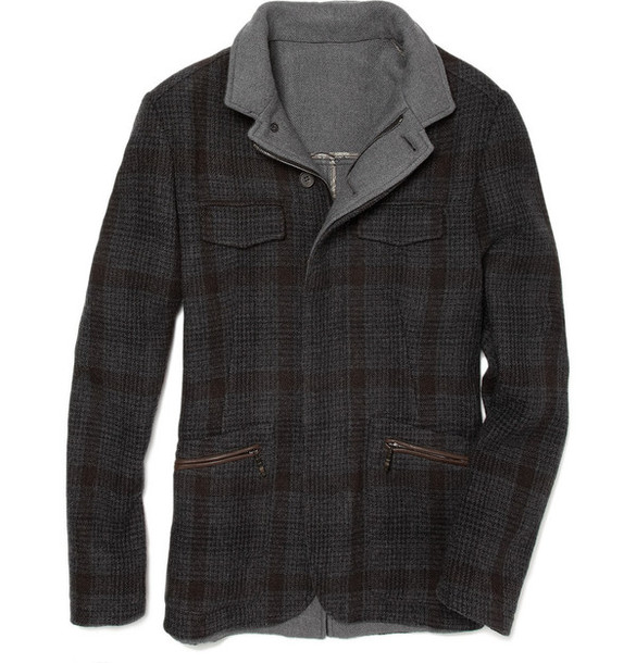 jacket coat plaid wool