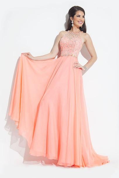 dress long prom dress prom dress pink dress evening dress