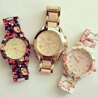 jewels flower watch rose gold rose gold watch