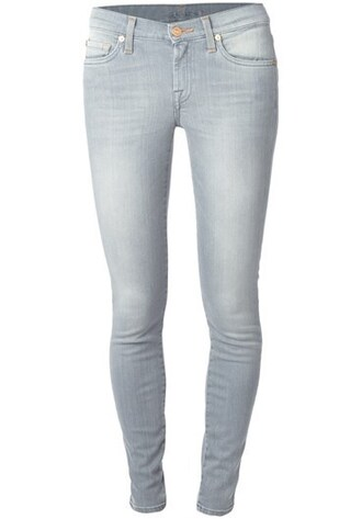 jeans illusion skinny jeans pencil foot spangy