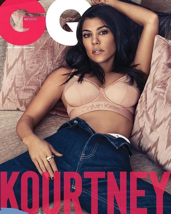 underwear bra bralette neutral nude lingerie editorial celebrity kourtney kardashian kardashians jeans denim