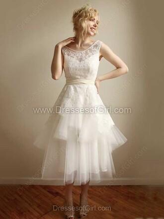dress white cute prom short dressofgirl prom dress short dress midi dress lace wedding wedding dress amazing dream dress princess wedding dresses