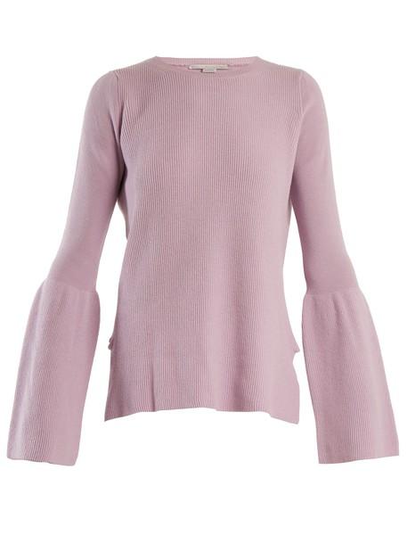 Stella McCartney sweater wool sweater flare wool light purple