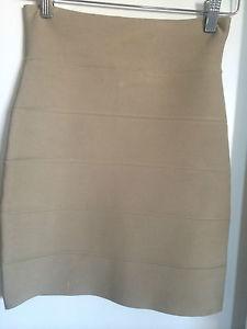BCBG Max Azria Bandage Skirt in Tan Camel Size XS | eBay