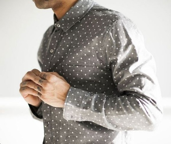 mens shirt menswear 42. grey