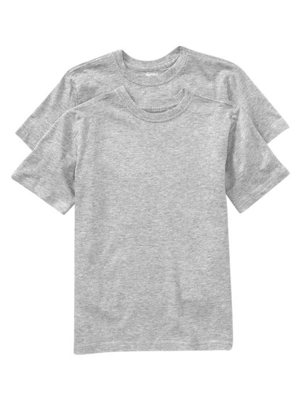 gap undershirts 2 pack lt heather grey boys shop all styles 353167001