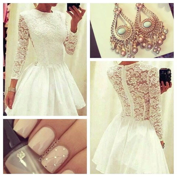 dress jewels dress white lace dress lace white