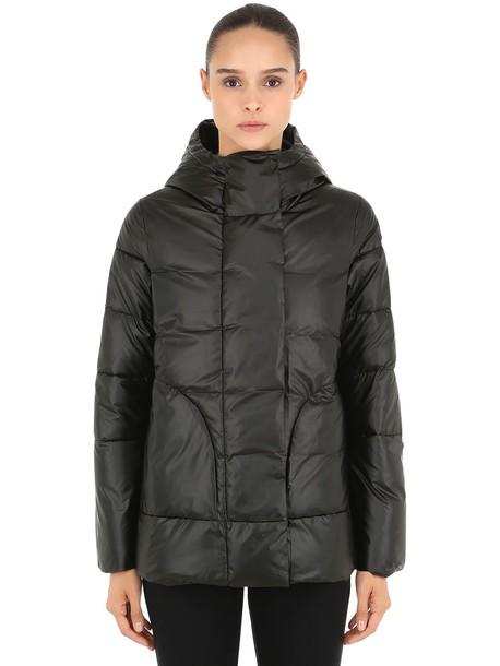 INVICTA Hooded Nylon Puffer Jacket in black