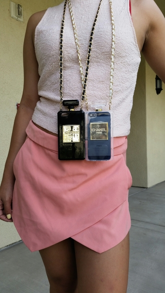 phone cover girly girl fashion chanel iphone iphone cover iphone case iphone 4 case iphone 5 case iphone 6 skirt sleeveless pink pink skirt white grunge spring outfits spring summer summer dress classy gossip girl vogue streetstyle