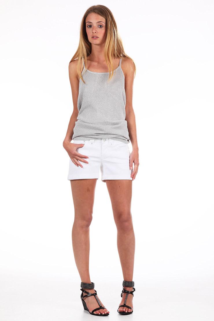 Short liberty en jean  blanc vero moda sur monshowroom.com