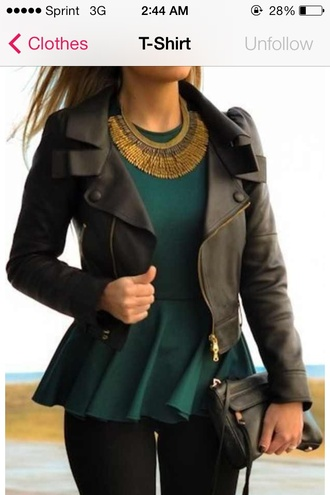 shirt girls clothing leather jacket leather jacket dressy shirt green blouse