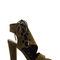 Strong angles faux suede chunky heels black olive mocha - gojane.com