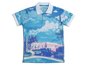 t-shirt polo polo shirts printed t-shirts printed tee printed polo blue paradise