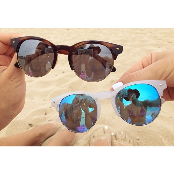 sunglasses reflet blue brown
